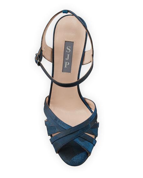 SJP by Sarah Jessica Parker Cadence High-Heel Camo Satin Sandals