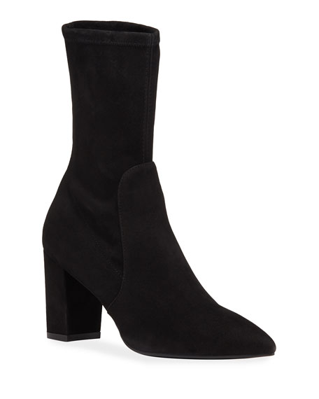 Image 1 of 3: Landry Stretch Suede Booties