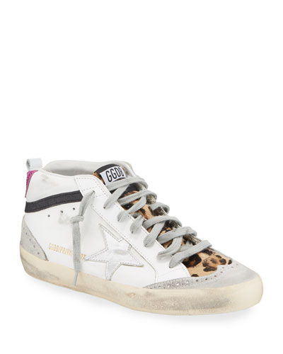 Mid Star Leopard High-Top Sneakers