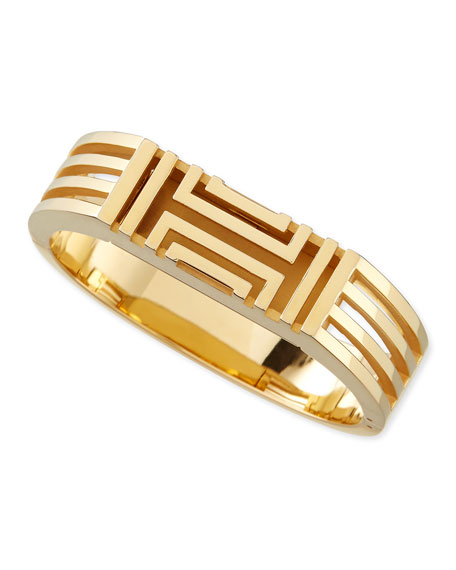 Tory Burch Gold-Plated Fitbit-Case Bracelet