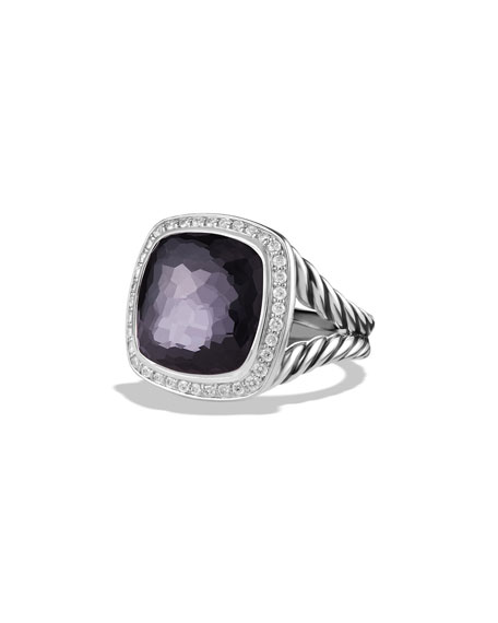 David Yurman Albion Ring with Black Orchid and