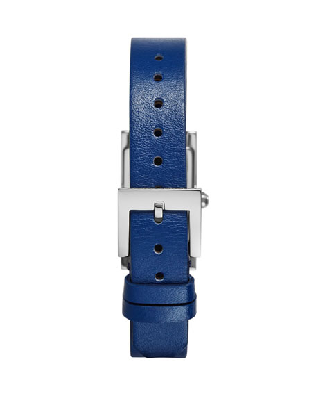 Buddy Signature Stainless Leather-Strap Watch