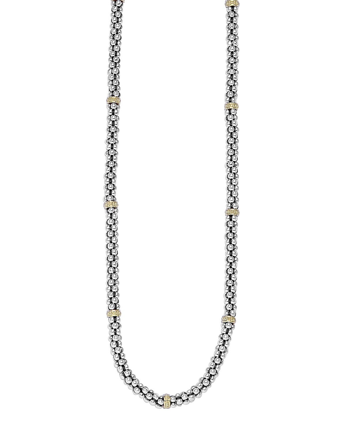 Lagos Caviar-Rope Necklace