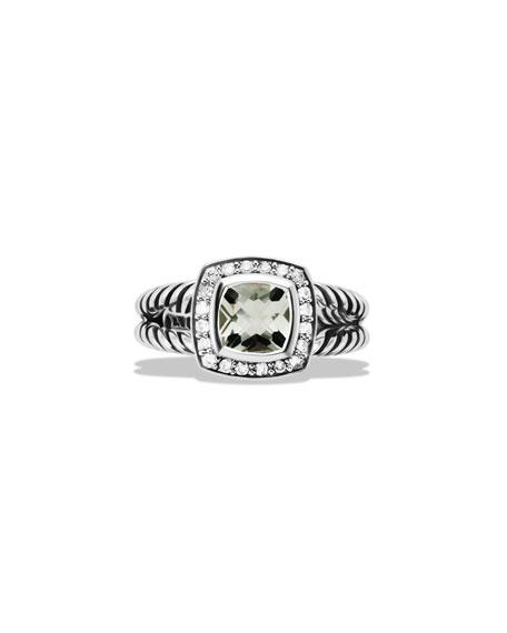 Petite Albion Ring with Prasiolite and Diamonds
