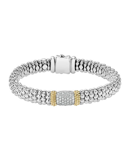 Lagos Diamond Lux Caviar 23mm Three-Station Bracelet BmpHVPR6