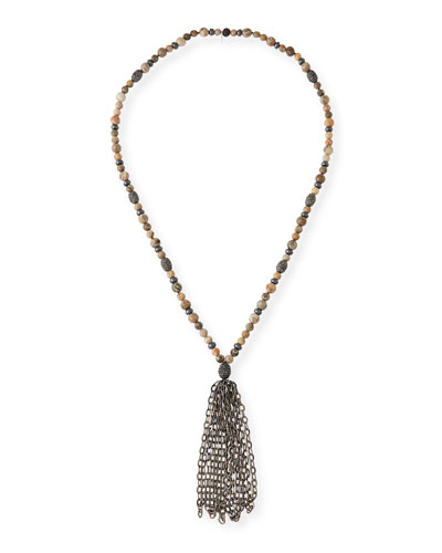 St. Barths Chain Tassel Necklace