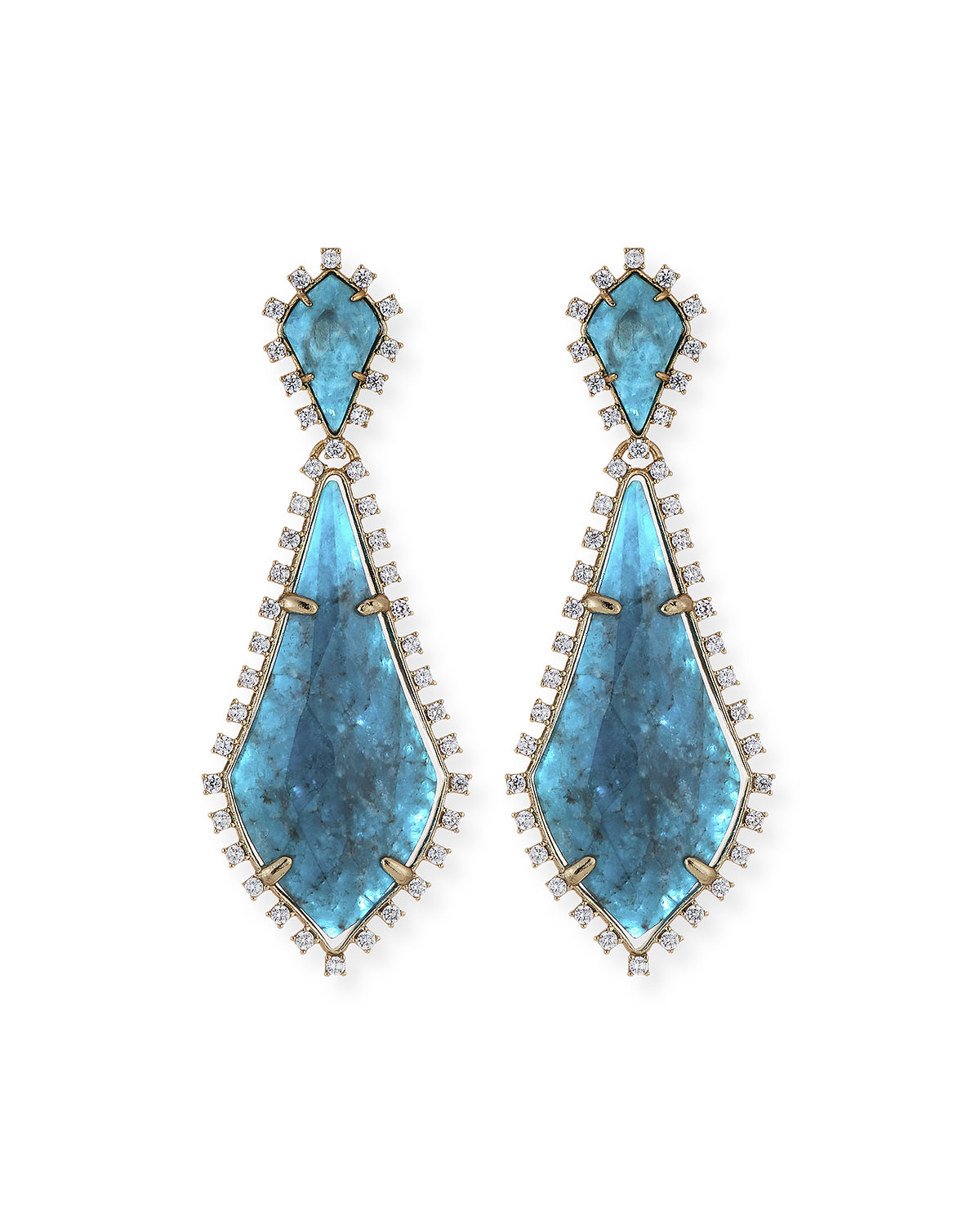 green diamond stars drop agate ny earrings product
