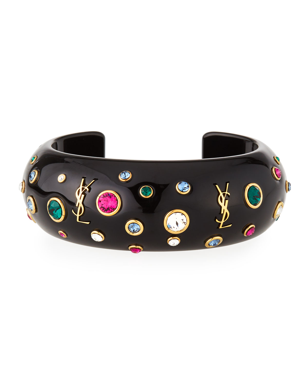 7ef9bc71e0 Eighties Crystal & Logo Cuff Bracelet