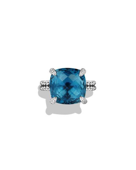 David Yurman 14mm Châtelaine Hampton Topaz Ring