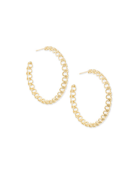 Image 1 of 1: Fallyn Hoop Earrings