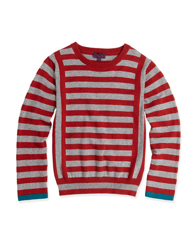 Paul Smith Striped Round-Neck Sweater, Sizes 8-12
