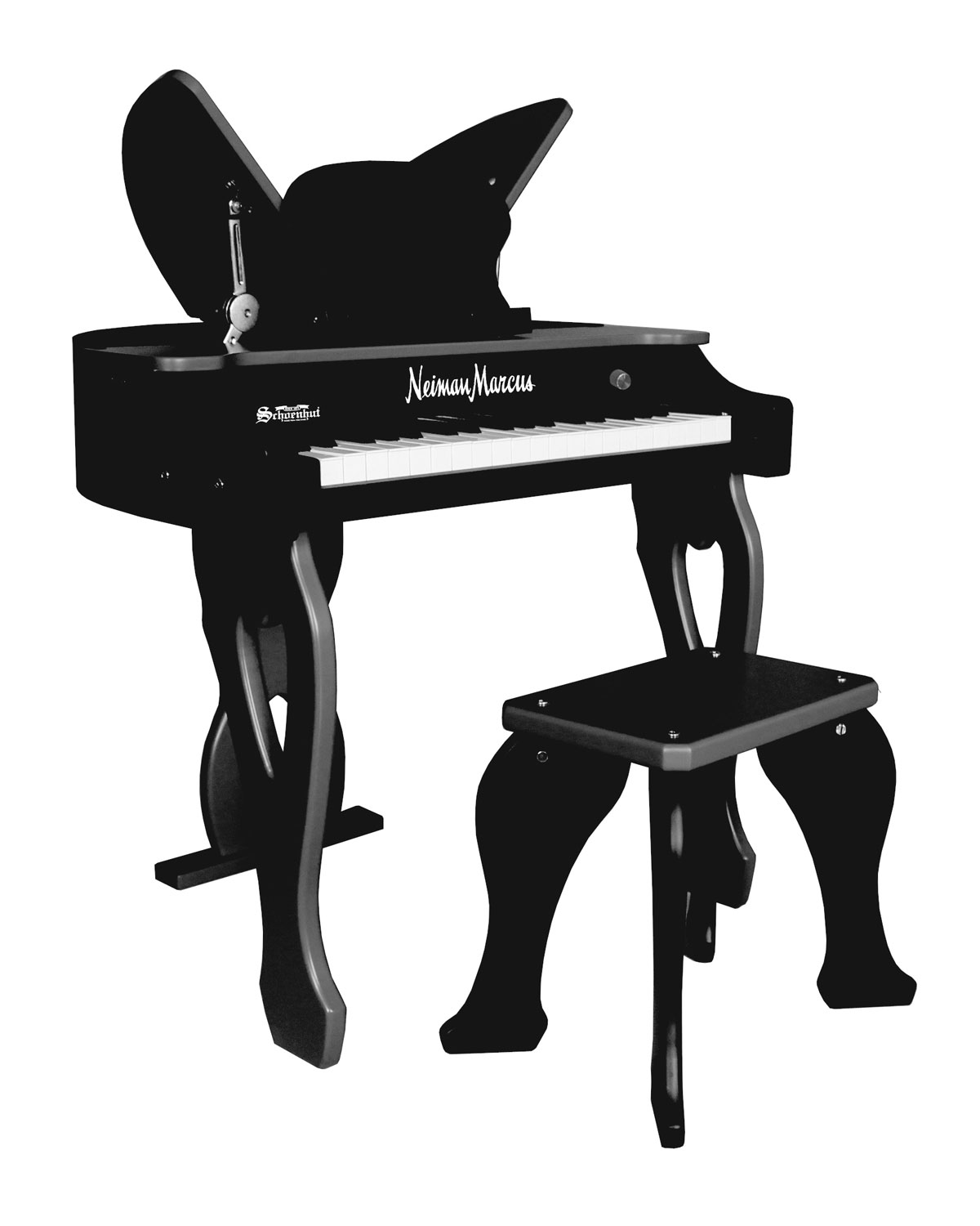 37 Key Electronic Butterfly Piano & Bench, Black by Schoenhut