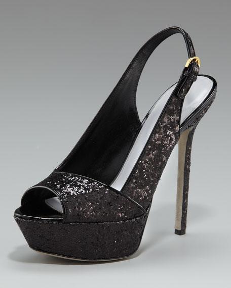 Glittered Platform Sandal