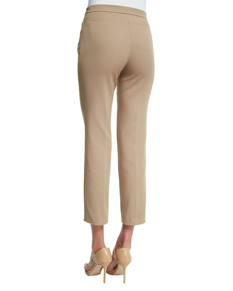 Akris punto Franca Elements Slim-Leg Ankle Pants