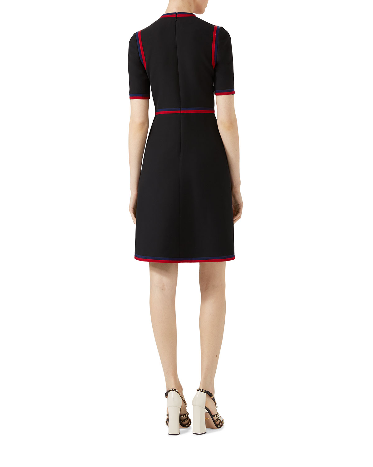 8e40577cc Gucci Wool Silk Dress with Web | Neiman Marcus