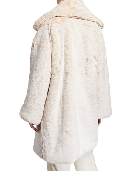 Sally LaPointe Oversized Faux-Fur Coat
