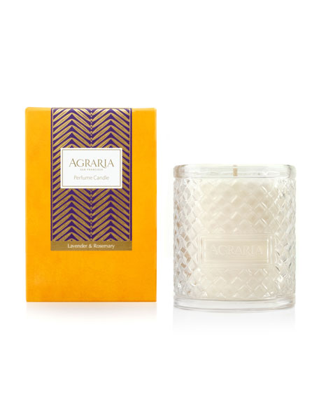 Agraria Lavender & Rosemary Woven Crystal Perfume Candle,