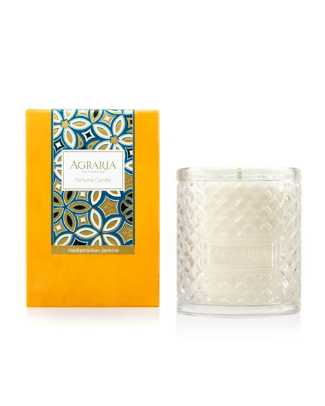 Agraria Mediterranean Jasmine Woven Crystal Perfume Candle, 7