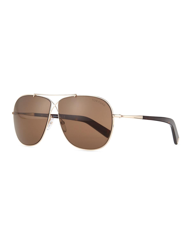 64ddc788f2c0 TOM FORD April Cross-Front Aviator Sunglasses