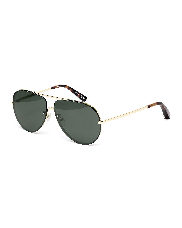 ce898ba77 Elizabeth & James Ryder Mirrored Aviator Sunglasses | Neiman Marcus