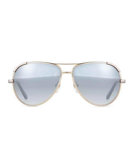 Chloe Metal Aviator Sunglasses
