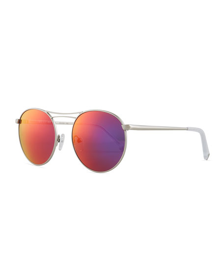 Kendall + Kylie Bella Thin Wire Round Sunglasses