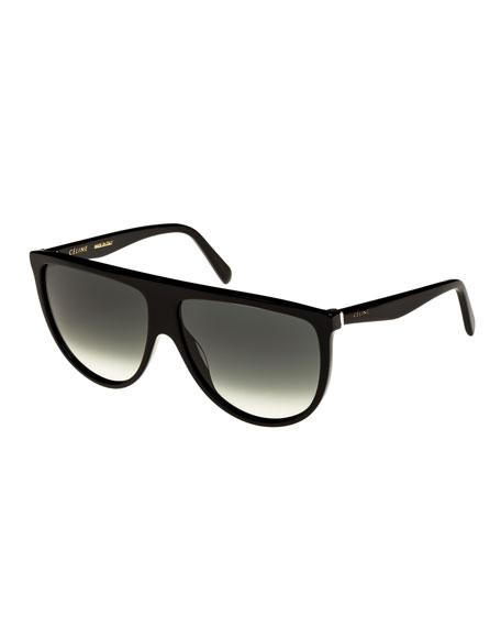Celine Flattop Gradient Shield Universal-Fit Sunglasses