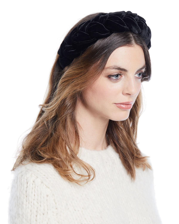 Jennifer Behr Lorelei Velvet Headband  54c682f2c86