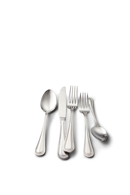 Wallace Silversmiths Euro Beads 65-Piece Flatware Service