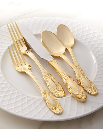 65-Piece Gold-Plated Grand Duchess Flatware Service