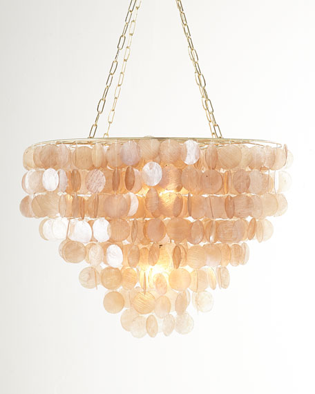 rosalea 2light capiz shell chandelier - Capiz Shell Chandelier