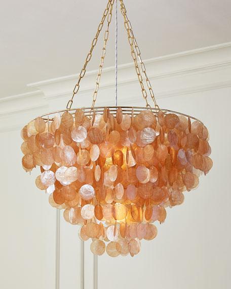 Rosalea 2 light capiz shell chandelier neiman marcus rosalea 2 light capiz shell chandelier mozeypictures Gallery