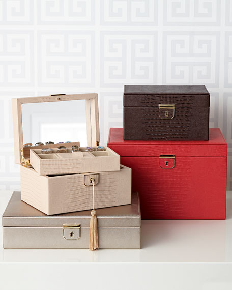 WOLF Palermo Large Jewelry Box Neiman Marcus