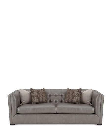 Hayden Tufted-Leather Sofa