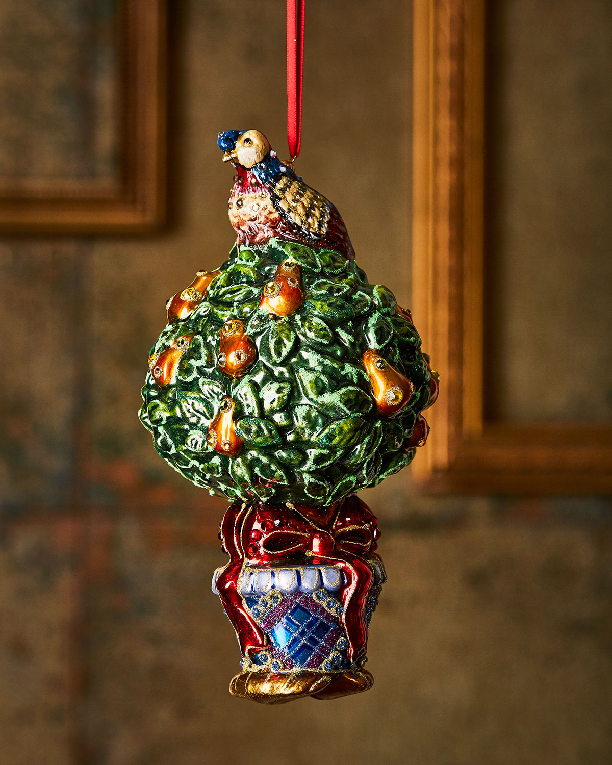 Jay Strongwater Partridge-in-a-Pear Tree Christmas Ornament | Neiman ...