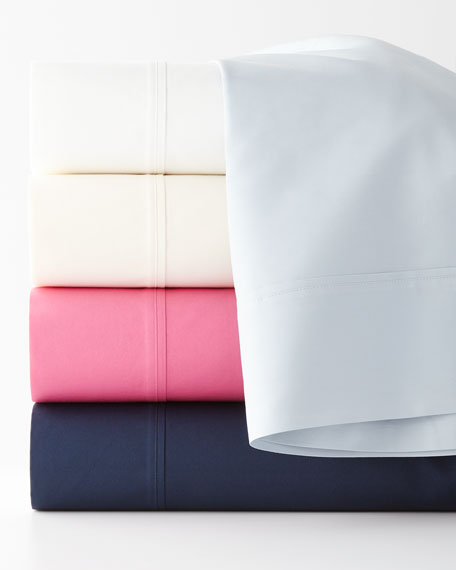 Queen 464 Thread Count Percale Flat Sheet