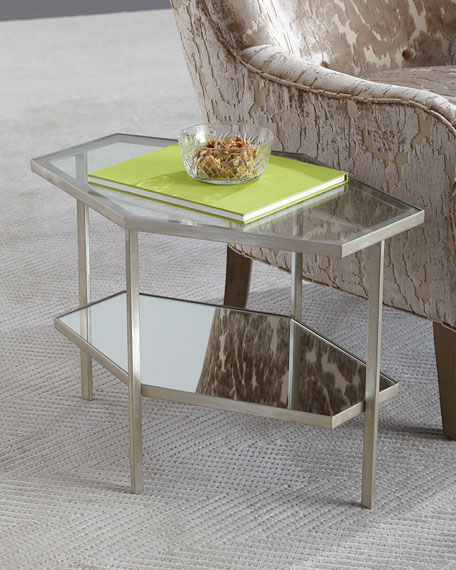 Global Views Valeria Hex Side Table, 18