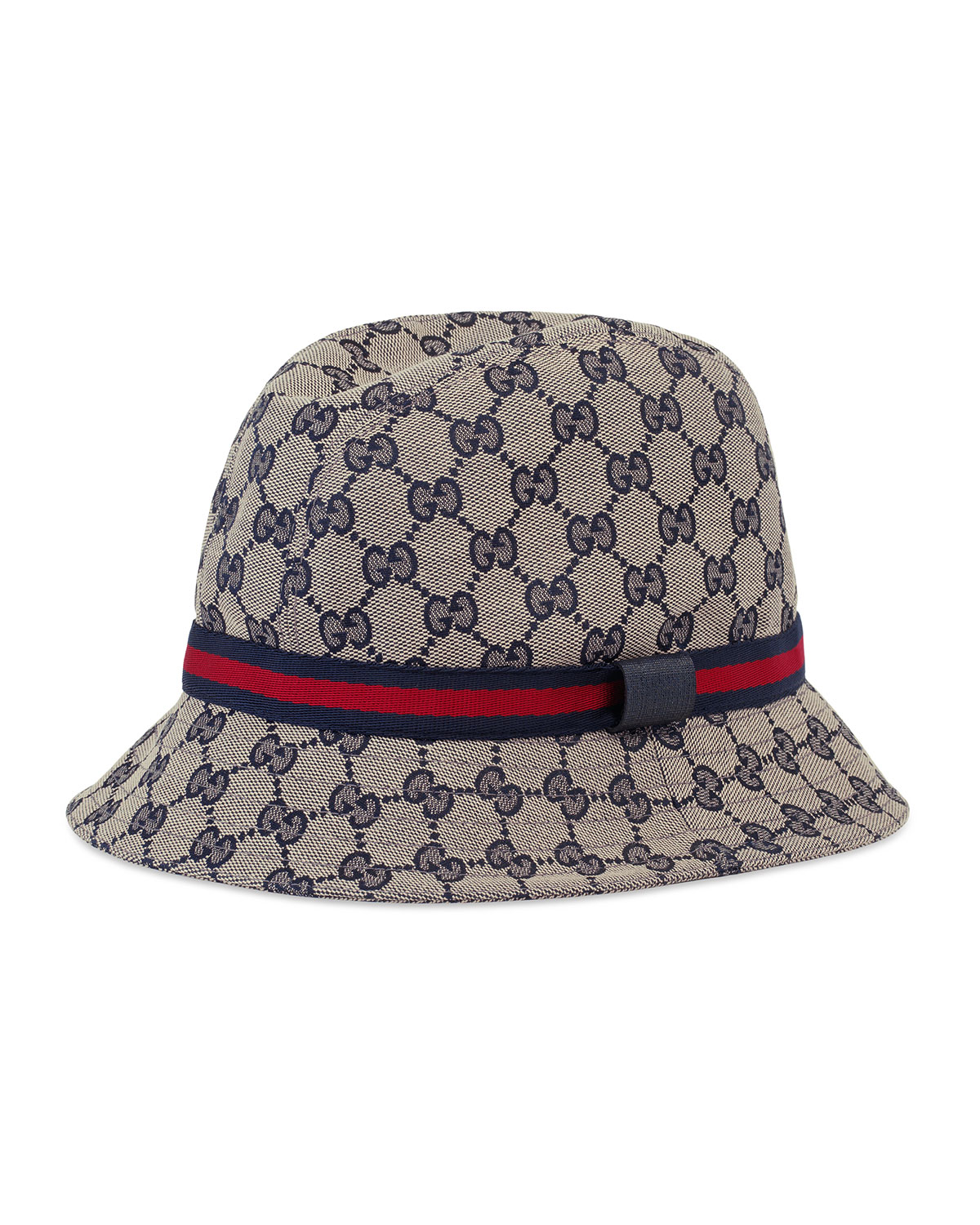 bba60f20 Gucci Kids' GG Supreme Canvas Bucket Hat w/ Web Hat Band | Neiman Marcus