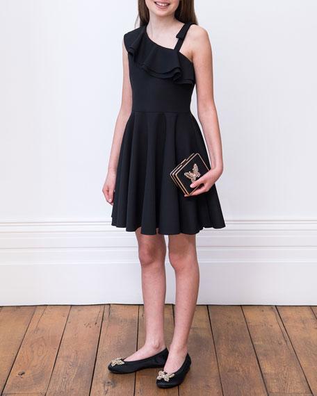 David Charles Crepe One-Shoulder Dress, Size 8-16