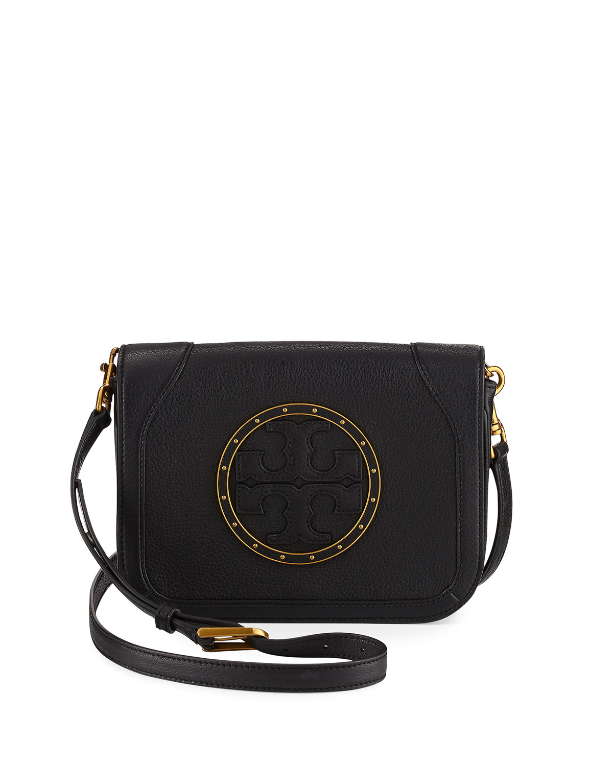 4230d28bbb5 Tory Burch Studded Leather Full-Flap Crossbody Bag