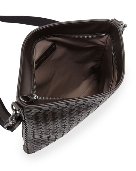 Men's Woven Zip-Top Messenger Bag