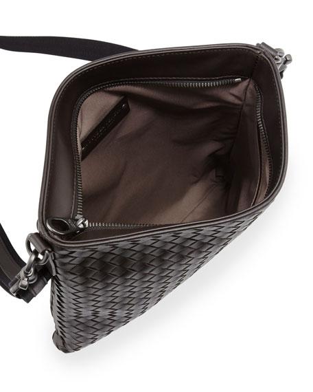 Men's Woven Zip-Top Messenger Bag