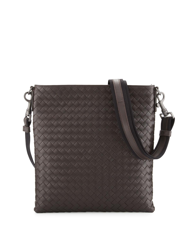 1cbb9a5184 Bottega Veneta Men s Woven Zip-Top Messenger Bag