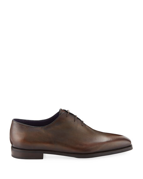 Image 2 of 3: Berluti Alessandro Demesure Leather Oxfords with Leather Sole
