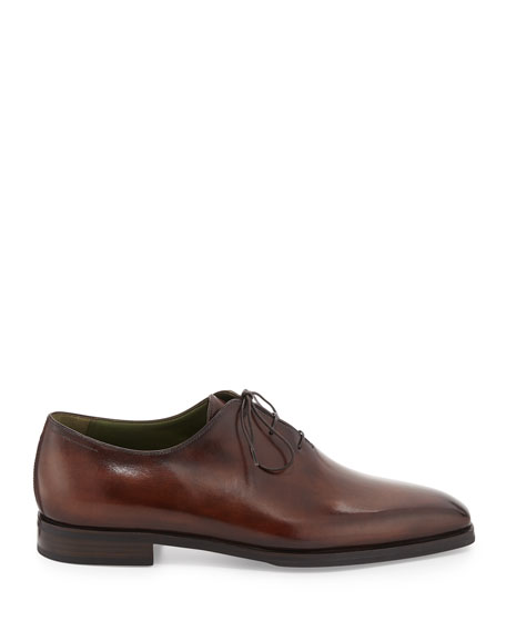 Image 3 of 3: Berluti Alessandro Demesure Leather Oxfords with Leather Sole