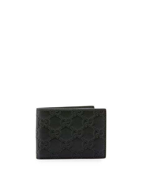 0fe30a1a9178 Gucci Signature Leather Bi-Fold Wallet   Neiman Marcus