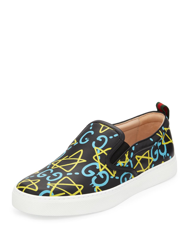 244572ed2f9 Gucci Dublin GucciGhost Leather Slip-On Sneaker