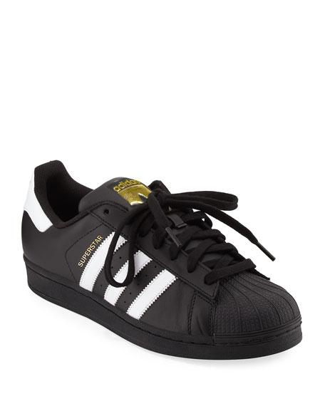 Adidas Men's Superstar Classic Sneakers, Black/White