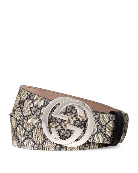 Gucci GG Supreme Belt w/Interlocking G