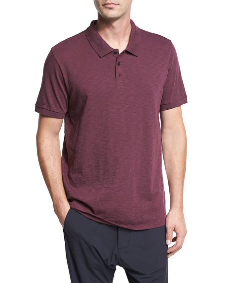 Image 1 of 6: Classic Slub Cotton Polo Shirt